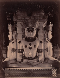 Images of the Tirthankara Adinatha in the Chaumukh Temple, Satrunjaya